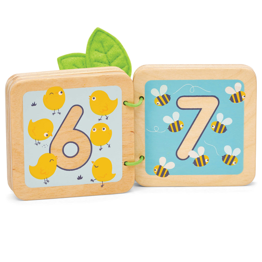 toddler wooden counting woodland book 6 and 7