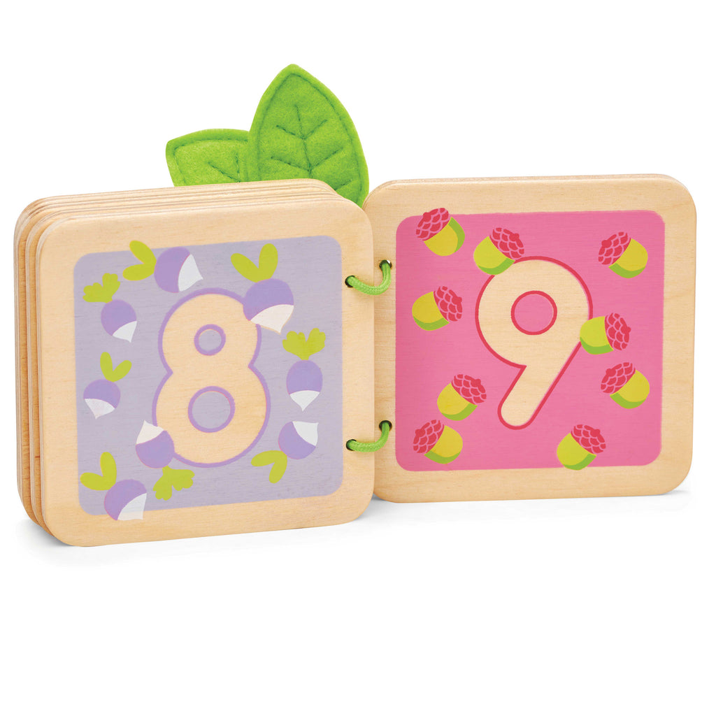 toddler wooden counting woodland book 8 and 9