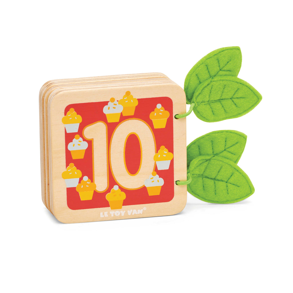 toddler wooden counting woodland book 10