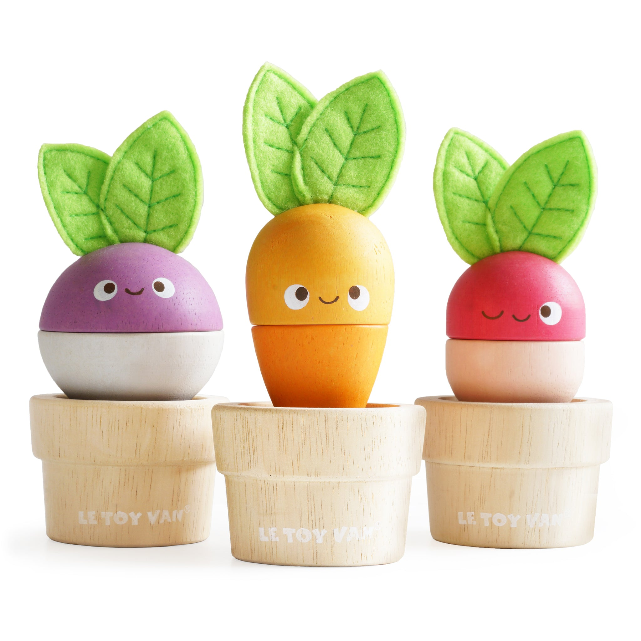 Stacking Veggies Wooden Baby Toddler Nature Toys Le Toy Van