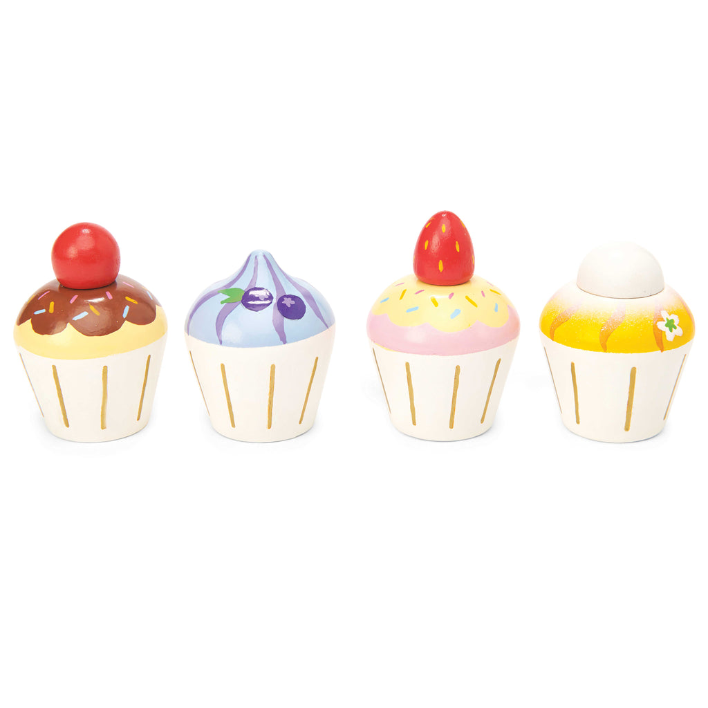 wooden cupcakes tea time role play toys