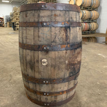 Load image into Gallery viewer, Sale 53g 1/2 Whiskey Barrel Planter. Perfect for flowers, herbs, annuals & perennials