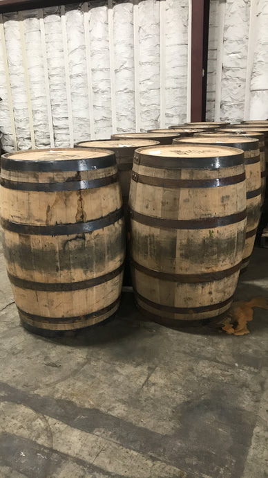 Heaven Hill Whiskey Display 53g Barrels (ex beer) with stamped heads