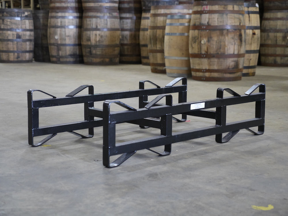 7in Refurbished Single Bar 25/30g 2 Barrel Rack, Sand blasted & Powder coated Black. Also holds 53/59g barrels.