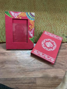 Beautiful hand-painted diaries, stationery combo set - 50 sheets
