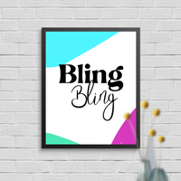 Bling Bling Wall Art