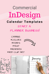 InDesign Commercial Calendar Templates