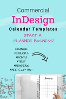 InDesign 2020 Dated Calendar Template #3