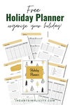 Holiday Planner {12 pages}