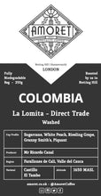 Load image into Gallery viewer, COLOMBIA La Lomita - Direct trade (Washed)