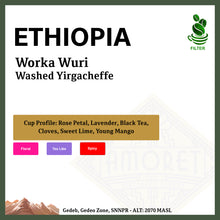 Load image into Gallery viewer, ETHIOPIA Worka Wuri (Washed Yirgacheffe G1)
