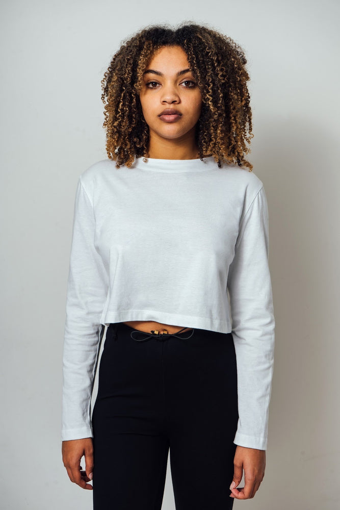 Ella Cropped Long Sleeve T-Shirt
