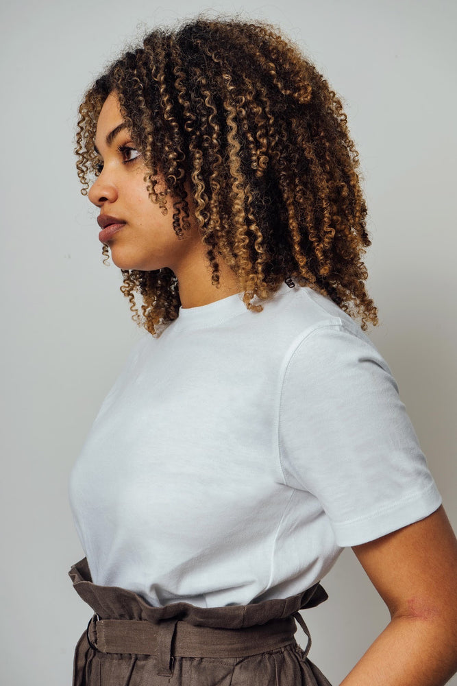Load image into Gallery viewer, Peta White Cotton T-shirt