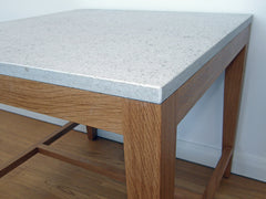 Table top of limestone. Small table from Precise Design. www.precisedesign.se