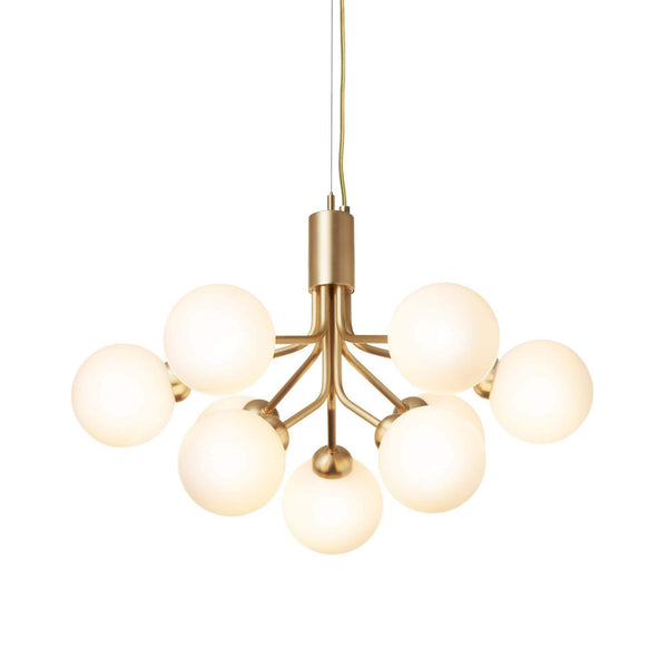 Apiales 9 Brushed Brass Pendant Lamp