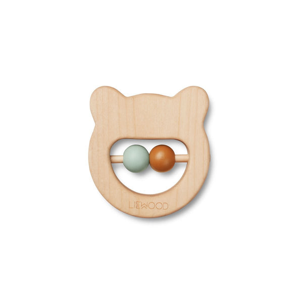 Ivalu Wood Teether Mr Bear - Natural