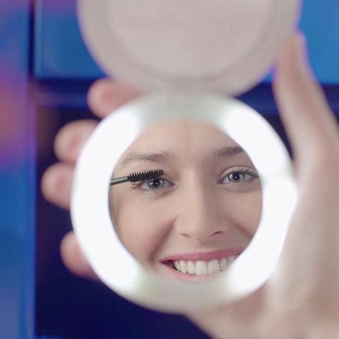 Image of Portable Power Bank LED Makeup Mirror