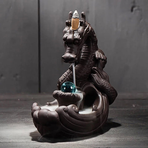 Image of Dragon Back-Flow Incense Burner