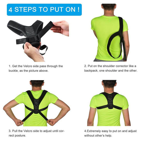 Image of BodyWellness™ Posture Corrector (Adjustable to Multiple Body Sizes)