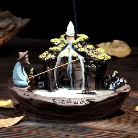 Image of WATERFALL BACKFLOW INCENSE BURNER