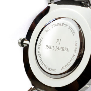 watch back case, silver back case, paul jarrel watch