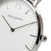 White dial, Paul Jarrel white dial, silver case watch