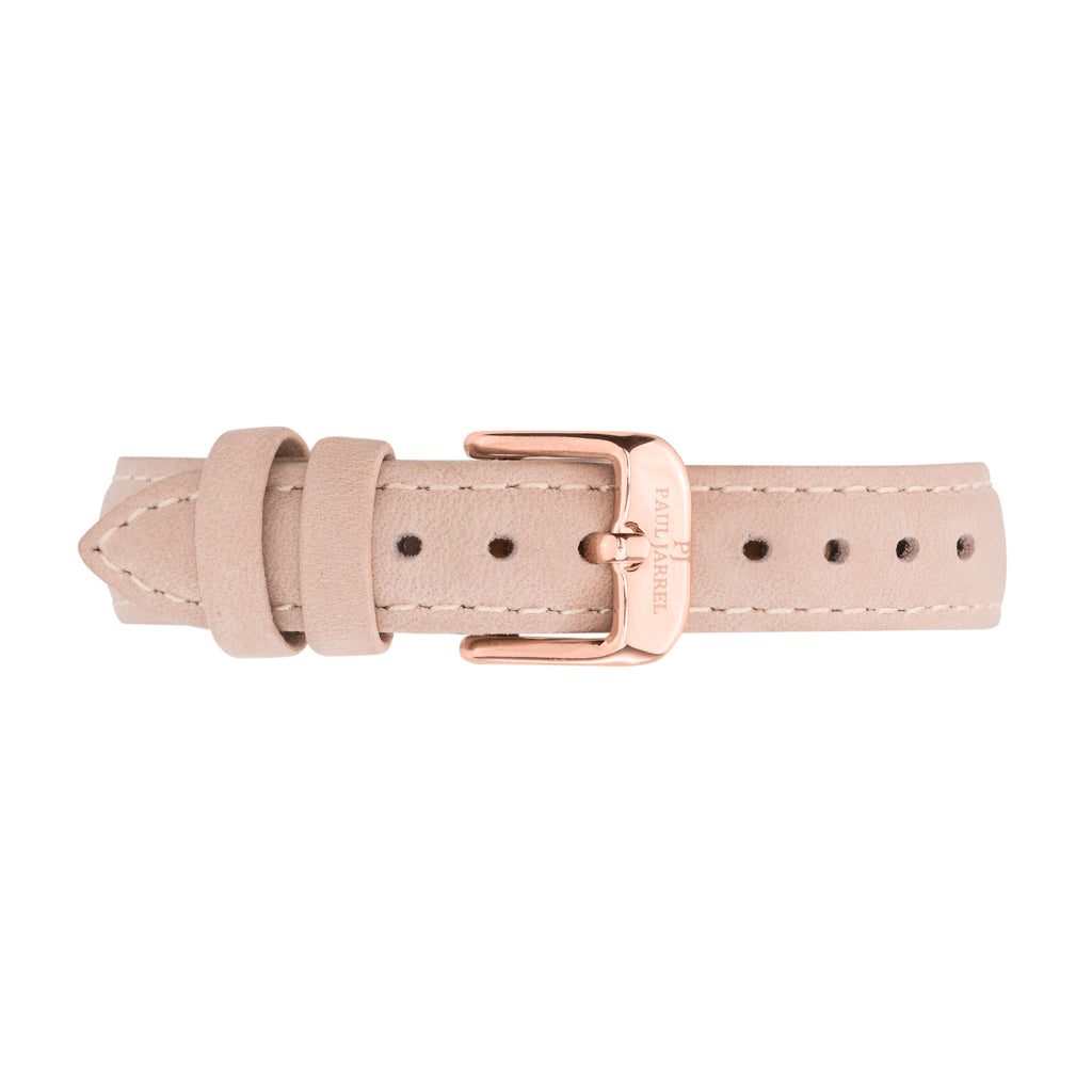 Petite watch elegant beige leather strap for women Paul Jarrel