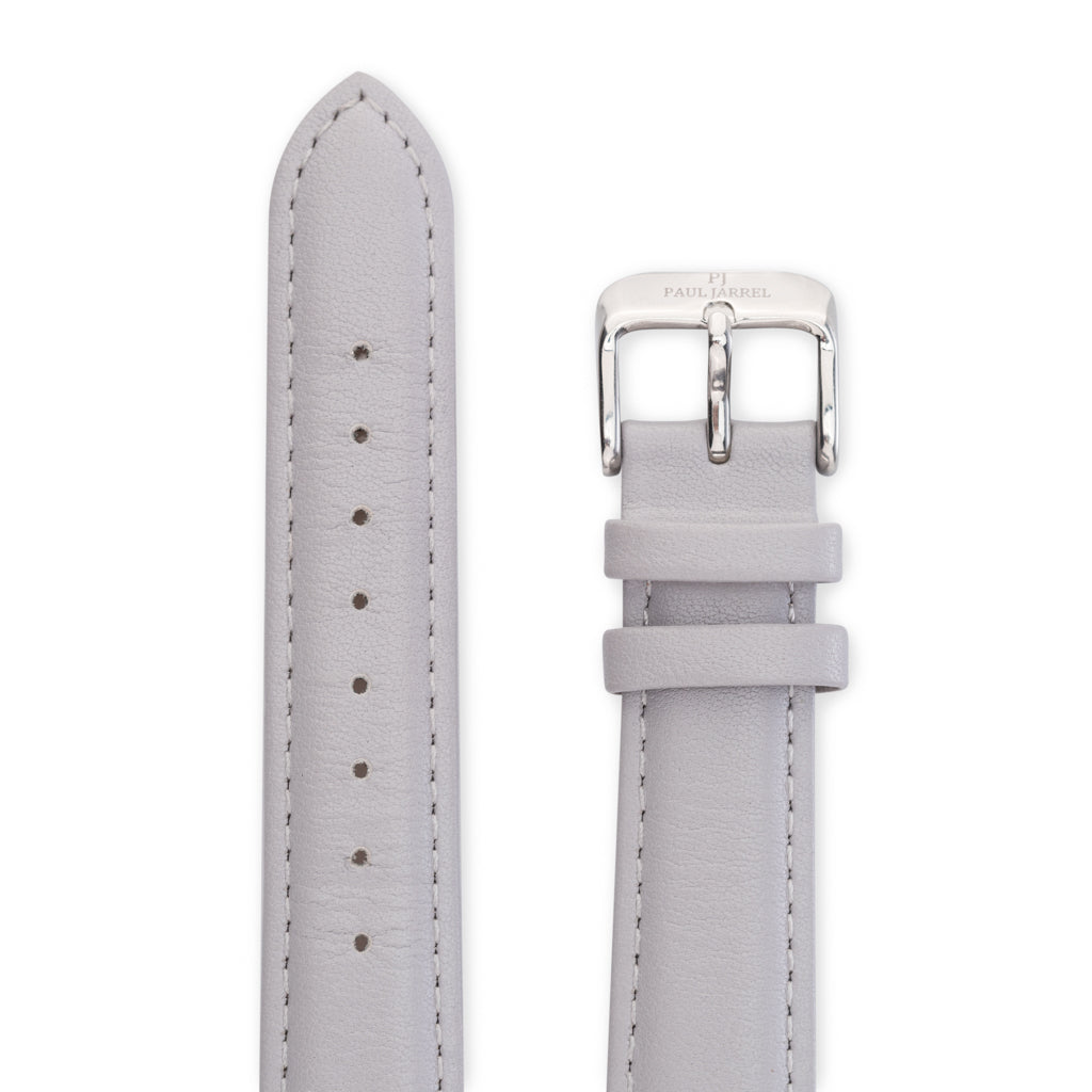 Grey leather strap for men and women Paul Jarrel