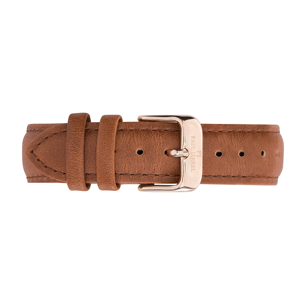 Paul Jarrel brown leather strap for men