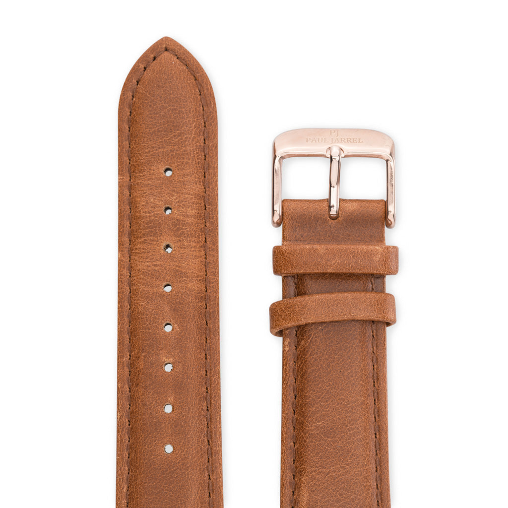 Brown leather strap Paul Jarrel for men and women