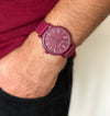Burgandy watches, montre bordeaux, burdeos relojes, men watches burgandy, women watches burgandy, montre silicone bordeaux, unisex silicone watches, el corte ingles burdeos watches, amazon silicone watches, paul jarrel colorful, colorful burgandy watch,