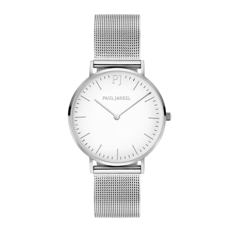 Mesh silver strap watch for men and women Paul Jarrel, relojes plateado, relojes plata, relojes tendancia, relojes amazon, unisex relojes, montres unisex