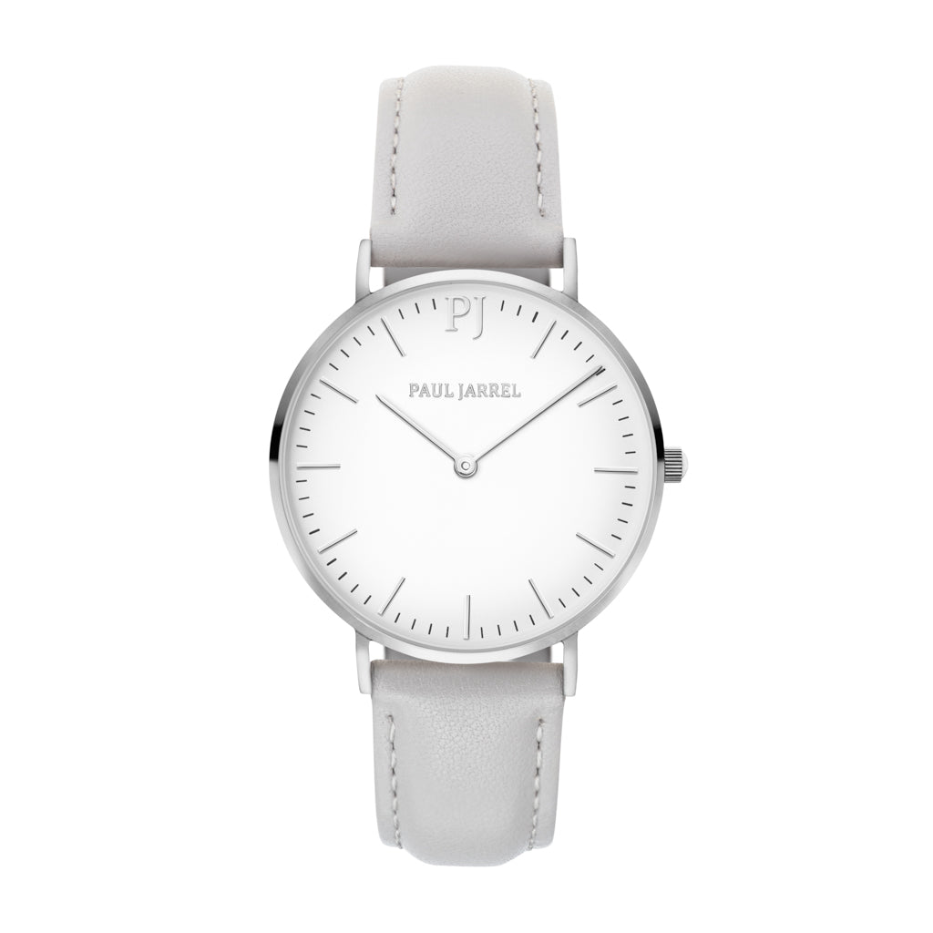 Leather watch grey leather for women Paul Jarrel