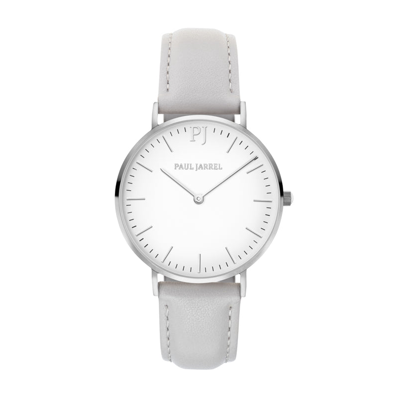 Paul Jarrel grey leather watch for women, relojes tendancia, relojes fashion,