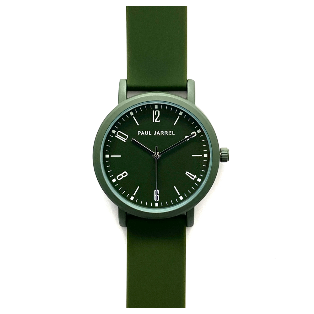 Green watches, military green watches, green silicone watches, men silicone watches, men green watches, unisex silicone watches, dark green watch, relojes verde mujer, amazon watches, women watches amazon, women watches el corte ingles, swatch green watch, paul jarrel watch, Paul Jarrel, sports watches