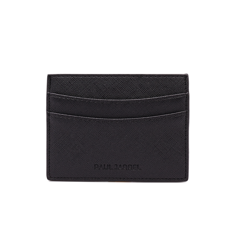 Card holder, unisex card holder, black card holder, porte carte noir, men card holder black, paul jarrel black card holder, men fashion card holder, leather good, leather card holder black, unisex card holder