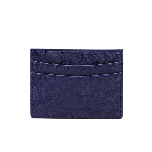 Card holder, unisex card holder, blue navy card holder, porte carte bleu marine, men card holder black, paul jarrel black card holder, men fashion card holder, leather good, leather card holder blue navy, unisex card holder