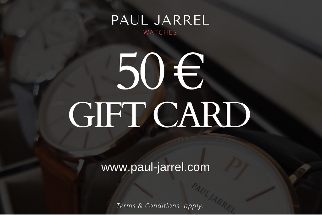 Amazon, Gift, Gift card, Paul Jarrel, watches, gift card Paul Jarrel, Paul Jarrel, Paul watches, gift, present, gift idea,