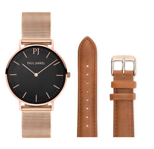 Mesh watches, rose gold watch