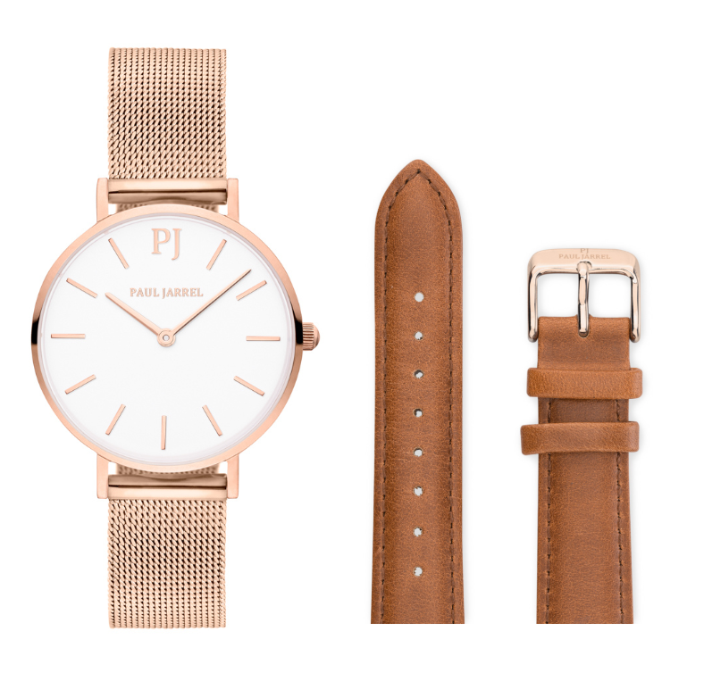 Menorca Classic Rosabella + brown leather strap