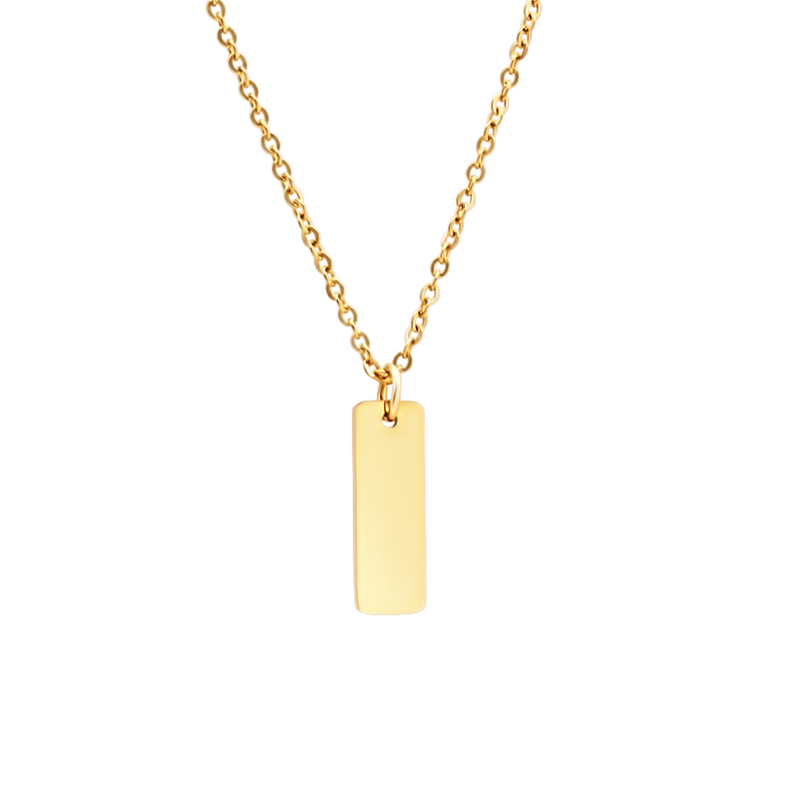 NECKLACE⎜FLAT BAR GOLD