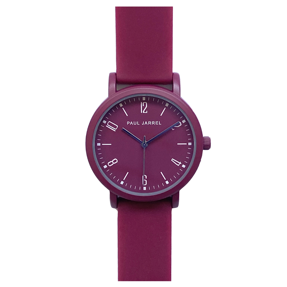 Burgandy watch, watch bordeaux, purple watch, women burgandy watch, swatch burgandy, ice watch, colorful watches, silicone burgandy watch, silicone watches Paul Jarrel, plastic watches, montre bordeaux, relojes silicona mujer, burgandy men watches, unisex watch, el corte ingles colorful, colorful collection, winter watch collection, paul jarrel burgandy watch