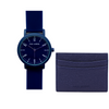 PACK⎜Blue navy watch + card holder blue