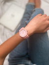 pink watch, girls watches, pink silicone watches, plastic watches pink, mujer relojes rosa, montre femme rose, montre silicone femme rose, women watches silicone, ice watch women, swatch girls watches, pink watches