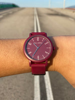 Montres Burgandy, montre bordeaux, burdeos relojes, montres hommes burgandy, montres femmes burgandy, montre silicone bordeaux, montres silicone unisexes, montres el corte ingles burdeos, montres amazon silicone, paul jarrel coloré, montre burgandy colorée,