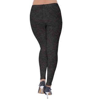 Charcoal Dust Velvet Leggings
