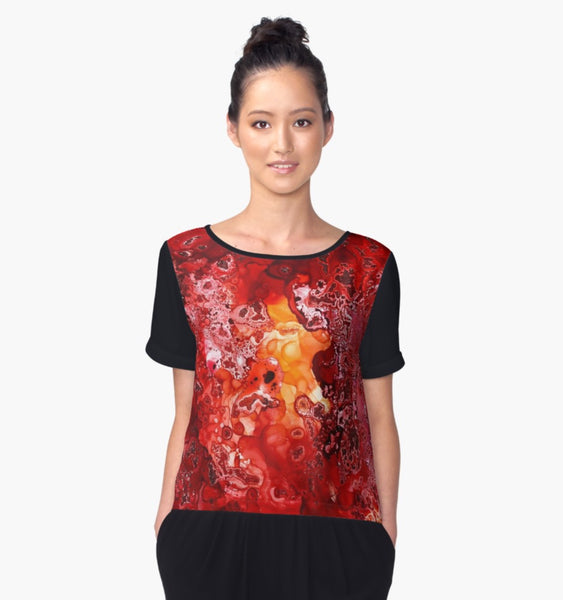 Phoenix Sunrise Women's Chiffon Blouse