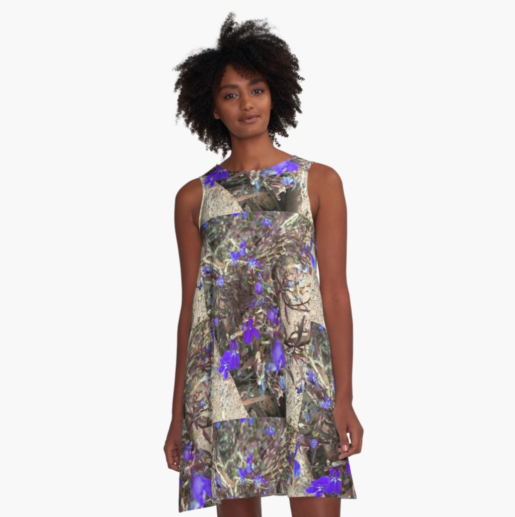 Vale Violets of Vail A-Line Dress