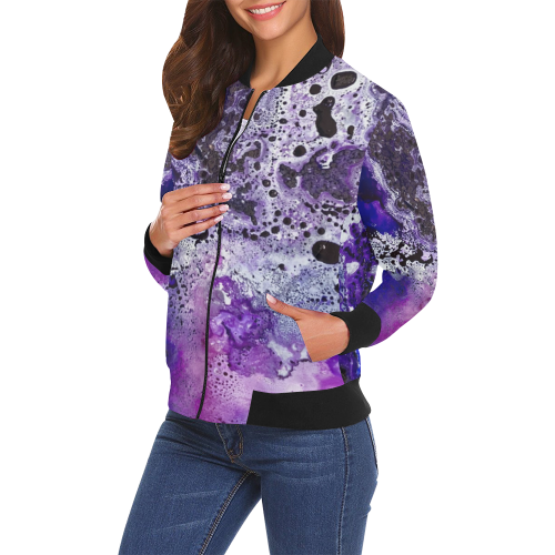 Who Loves Purple? Bomber Jacket
