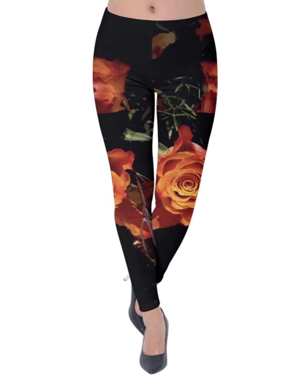 The Orange Rose Velvet Leggings